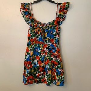 Lush floral waterpaint dress